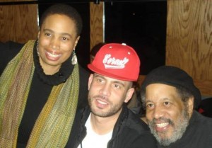 "Aishah Shahidah Simmons, Tyree Cinque ""DJ Drama"" Simmons and Michael Simmons (courtesy: author)"