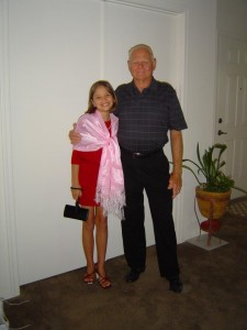 Dennis Struck (Monica's dad) with granddaughter Mason in 2012