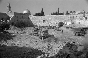 Demolition of Houses by Western Wall