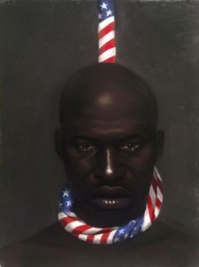 A Black man in amerikkka -Artist: Laurie Cooper