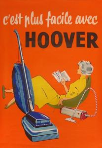 vintage 50s ad - hoover vacuum cleaner