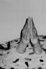 Bo Luengsuraswat, Above Ground, 2003, mixed media installation (cast piece: wax and rice)
