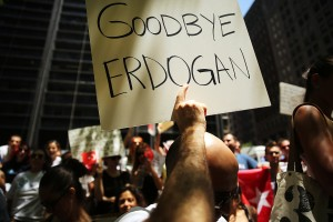 Occupy Protesters In New York Gather In Solidarity For Demonstrators In Istanbul