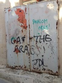 Graffiti in Hebron (Photo-Courtesy of Starr Sage)
