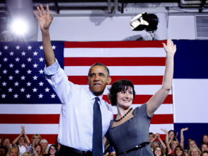 President Obama and Sandra Fluke