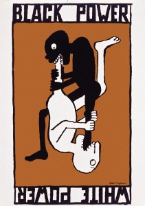 Tomi Ungerer: black Power / White Power Poster