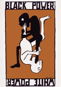 Tomi Ungerer: black Power / White Power Poster