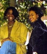 J'dah's mom and I during our college years.