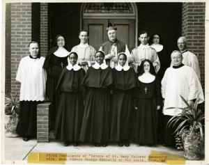 First Three African-American Sisters of St. Mary (now the Franciscan Sisters of Mary) in 1946, Courtesy of the American Catholic History Research Center and University Archives at the Catholic University of America