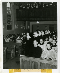 Segregated Profession Ceremony of the First Five African-American Sisters of St. Mary, c. 1947, Courtesy of the American Catholic History Research Center and University Archives at the Catholic University of America