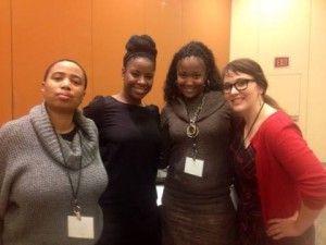 L to R: Aishah Shahidah Simmons, Tamura A. Lomax, Heidi R. Lewis, and Heather Laine Talley