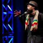 Gabriel Teodros performs at TEDxRainier, November 10, 2012.