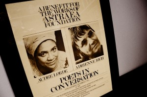 Astraea Foundation's Audre Lorde & Adrienne Rich Benefit Poster