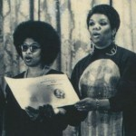 Audre Lorde (far right) with (l-r) June Jordan, Alice Walker, Lucille Clifton