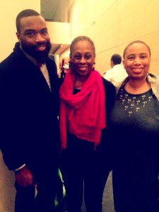Darnell L. Moore, First Lady di New York Chirlane McCray, e Aishah Shahidah Simmons a Mother Tongue monologhi 2014