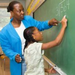 Black Math teacher & student