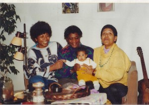 Marion Kraft, Gloria Joseph & Audre Lorde with Baby Josephine Kraft copyright Marion Kraft
