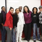 Students & friends after Elizabeth Lorde-Rollins & Melinda Goodman's guest lecture in Simmons' Lorde seminar