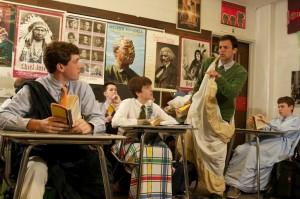 Chris Rupertus teaching Shakespeare's Julius Ceasar copyright: Bill Avington