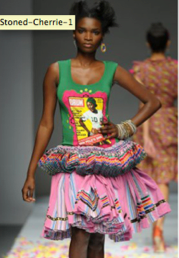 Vintage Drum tank with modern Tsonga skirt by Stoned Cherrie