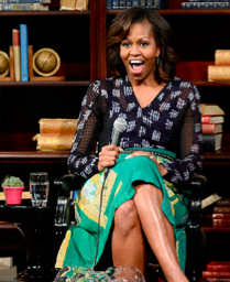 First Lady Michelle Obama in Maki Oh adire print blouse