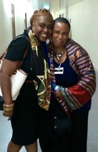 Farah Tanis & Aishah Shahidah Simmons #CERD photo: Christina Jaus