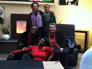 Prof. Amina Mama with African Feminists Simidele Dosekun, Prof. Abena Busia, Dr. Margo Okazawa-Rey, Prof. Sylvia Tamale, Harlem 2014