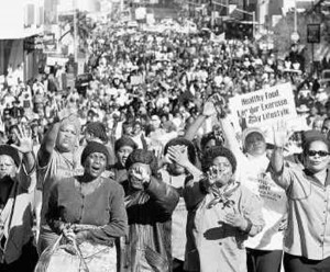 South African Women Protest Apartheid Pass Laws, 1956