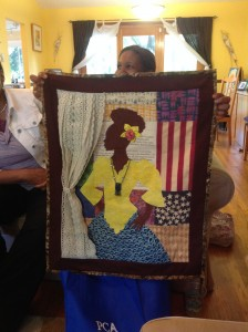 "ImageWeaver Asake Denise Jones' quilt. ""FREE & Choose to Remain So"" ©2011 (in honor of Oney Judje) photograph: ©Aishah Shahidah Simmons"