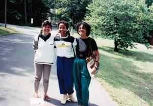 Bia Vieira, Zeinabu irene Davis and Toni Cade Bambara Flaherty Seminar 1989 courtesy ©Bia Vieira