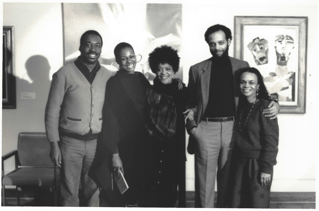 James Spadey, Eleanor Traylor, Toni Cade Bambara, Haki Madhubuti, Sonia Sanchez, 1986 Photograph ©Lamont Brown Steptoe courtesy: H. Madhubuti