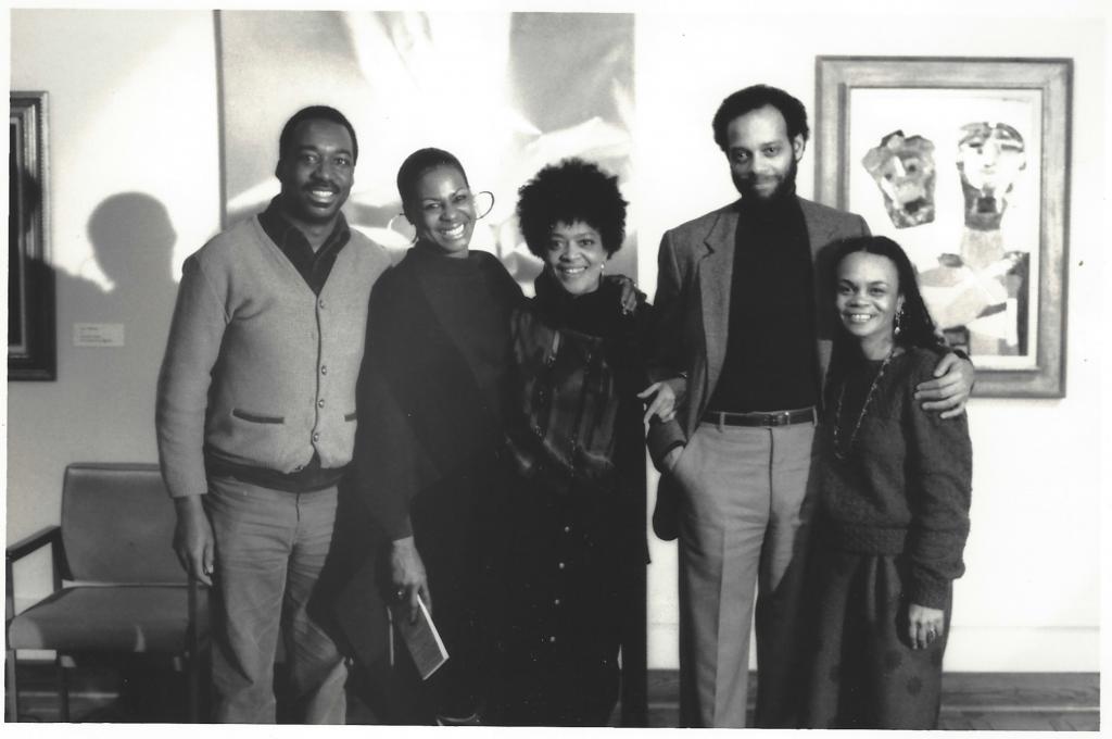 James Spadey, Eleanor Traylor, Toni Cade Bambara, Haki Madhubuti, Sonia Sanchez, 1986 Photograph ©Lamont Brown Steptoe courtesy: H. Madhubuti