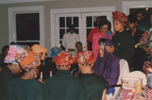 Toni Cade Bambara and the Spelman Sisters, 3-25-89 ©Susan J. Ross