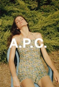 Missy Rayder by Venetia Scott for A.P.C.