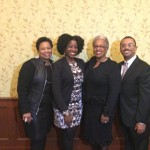 Brenda Bennefiled (Candler Staff Member and Black Church Studies Associate), Tamura A. Lomax, Teresa Fry Brown (Professor of Homiletics and Director of Black Church Studies), Patrick Clyborn (Reverdy Ransom Award recipient)
