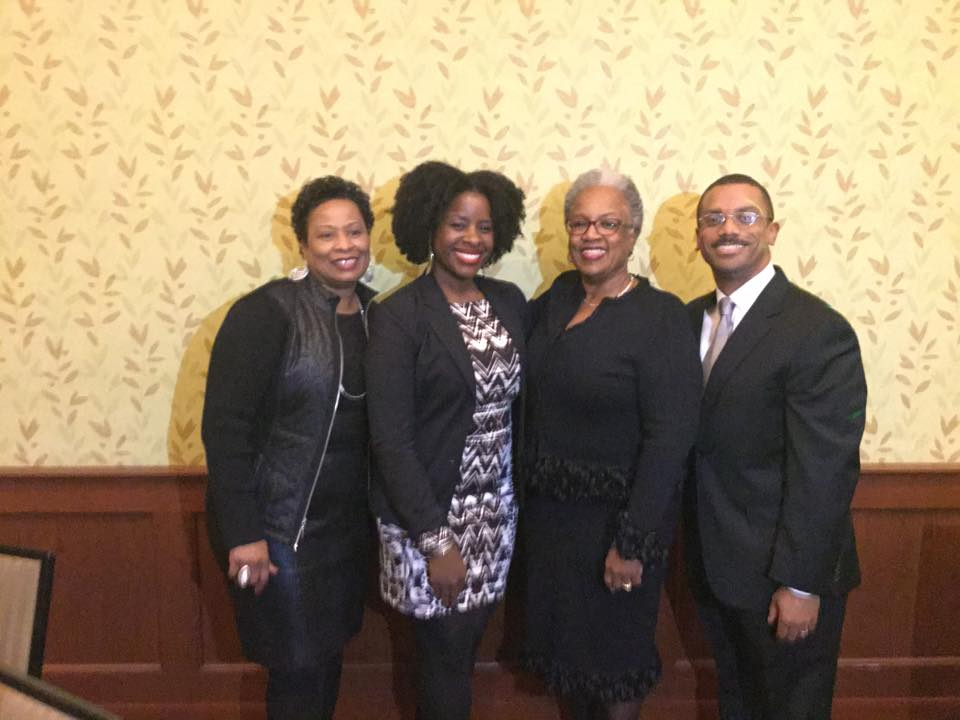 Brenda Bennefiled (Candler Staff Member and Black Church Studies Associate), Tamura A. Lomax, Teresa Fry Brown (Professor of Homiletics and Director of Black Church Studies), Patrick Clyborn (Reverdy Ransom Award recipient)
