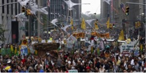 People's Climate March (Photo credit: AP)