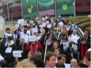 Our walkout on COP 19 (Photo credit: author)