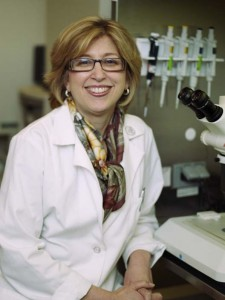 Dr. Teresa Woodruff in her Northwestern University Lab.