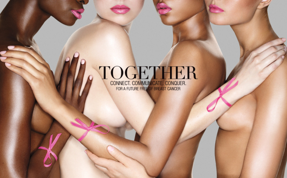 Estee Lauder breast cancer awareness advertisement, which raises questions about  misrepresentation of survivors and marketing agendas