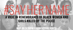 #SayHerName vigil