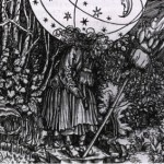 """Federici discusses Hans Weiditz's """"The Witch's Herbary"""" (1532) engraving in her book, which shows women's special knowledge of medicinal herbs and treatments including contraceptives that threatened the new capitalist order."""