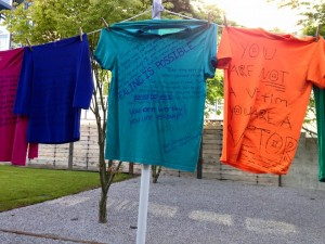 Clothesline Project at the University of Washington, Tacoma.