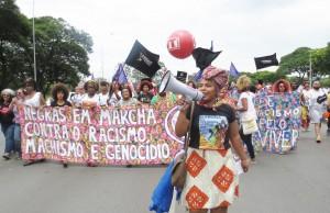 Marcha das Mulheres Negras in Brazil photo credit: Maggie Hazvinei Mapondera