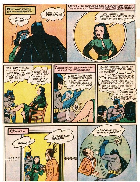 """The Cat"" Batman #1, 1940."